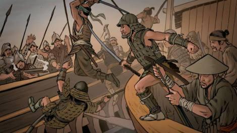 Infantes de marina españoles VS Ronin o piratas samuráis japoneses