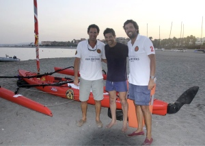 Quico con el presidente del RCMS Enrique Benjumea y el vicepresidente Pablo Parias.