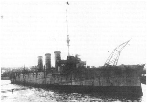 El República fondeado en el Arsenal de La Carraca en 1936