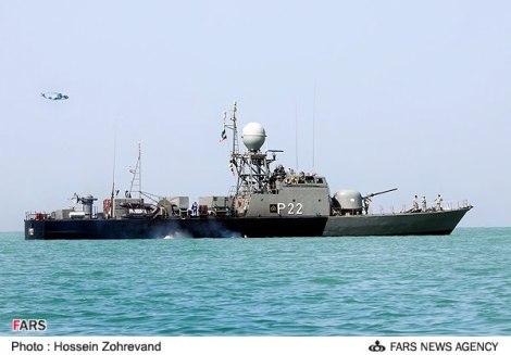 lancha rápida clase KAMAN iraní armada con SSM de origen chino
