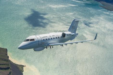 Demostrador del Bombardier 650MSA ofrecido por Boeing en cooperación con el fabricante canadiense