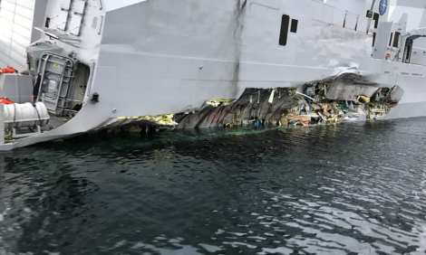 control de daños fragata noruega hnoms helge ingstad (f-313) (9)