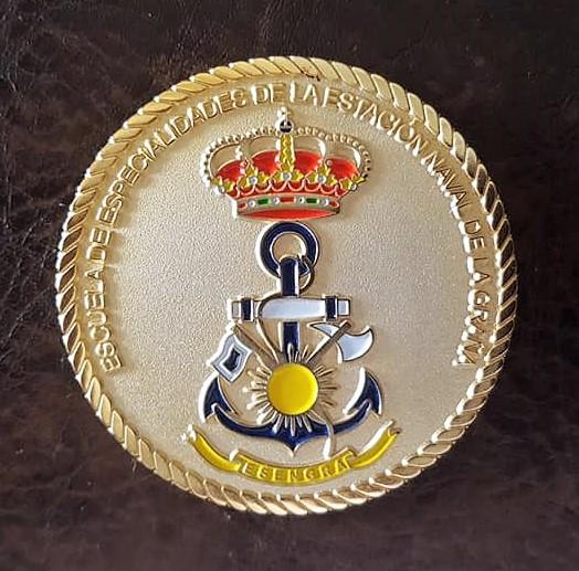 challenge coin spanish navy ESENGRA escuela especialidades armada española foro naval