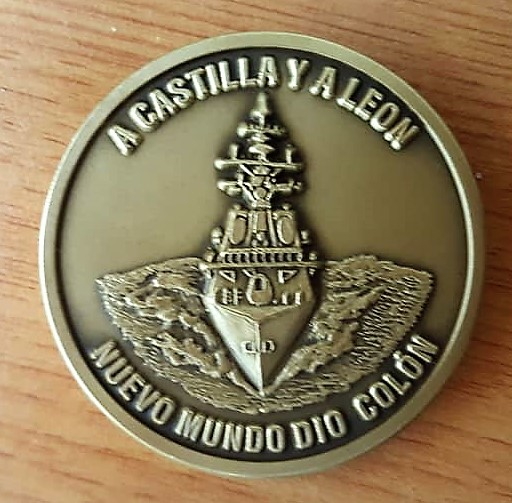 challenge coin spanish navy frigate cristobal colon f105 foro naval (1)