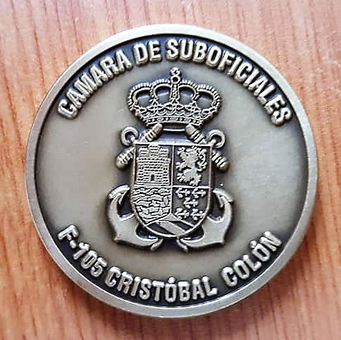 challenge coin spanish navy frigate cristobal colon f105 foro naval (2)