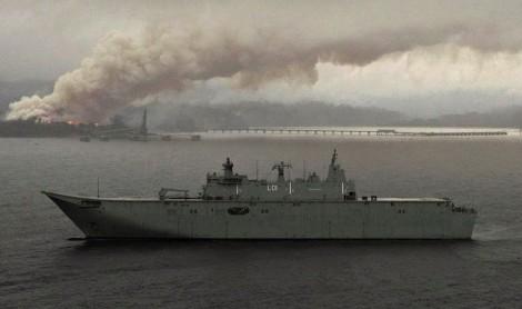 HMAS Adelaide L-01 Foro Naval Incendios forestales australia (13)