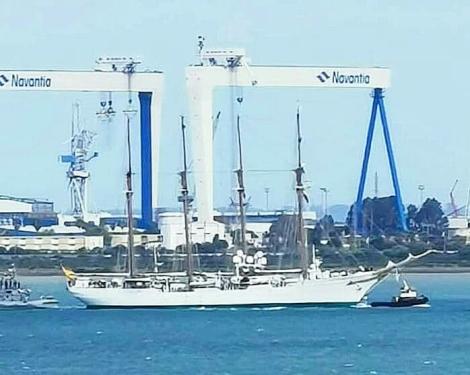buque escuela juan sebastian de elcano covid19